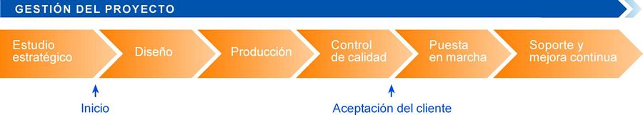 gràfic de com es du a terme la gestió d'un projecte